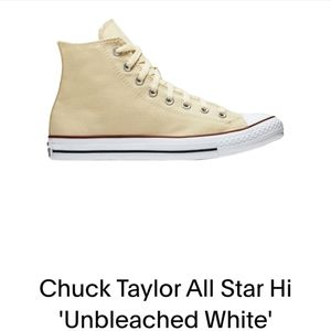 Converse high tops unbleached white size 5.5